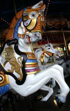 Carousel Horse In Armour -- [REPINNED by All Creatures Gift Shop]
