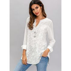 Shop Floryday for affordable XXL XL Blouses. Floryday offers latest ladies' XXL XL Blouses collections to fit every occasion. Long Blouse, Blouse Dress, Short Sleeve Blouse, Swimwear Fashion, White Long Sleeve, Mode Style, Latest Fashion For Women, Blouses For Women, Ideias Fashion