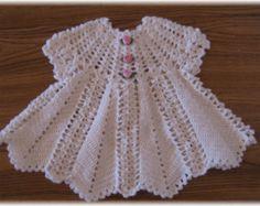 Crochet Pattern for Baby Girl Dress.......Apple Blossom Baby Girl Dress