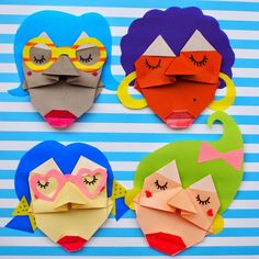 Leslie from Pink Stripey socks makes the CUTEST origami faces. I can't even!
