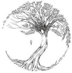 Dessin de tatouage Arbre de vie pas de soleil ni de lune Tree of Life Star Tattoos, Body Art Tattoos, New Tattoos, Celtic Tattoos, Tatoos, Irish Tattoos, Sleeve Tattoos, Tattoo Neck, Phoenix Tattoos