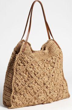 Straw Studios Crochet Tote $58