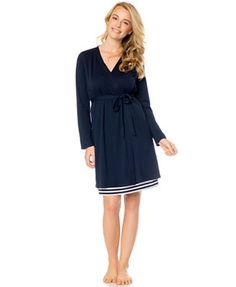 f2b5b09a26 Bump In The Night™ Two-Piece Robe   Striped Nursing Nightgown Set Nursing  Pajama