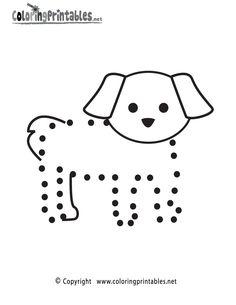 dog trace worksheet Crafts and Worksheets for Preschool