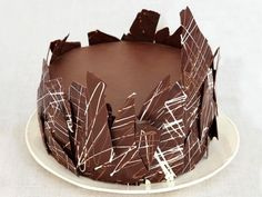 Chocolate Layer Cake : For a whimsical twist, press homemade chocolate bark along the outside of this chocolate cake.