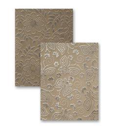 Spellbinders M-Bossabilities A2 Card Embossing Folder-Garden Delight