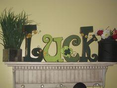 Luck St Patrick's Day Gold Shamrock DIY by allysatticDIY on Etsy, $14.00