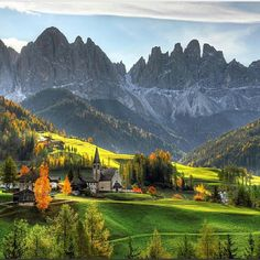 Val Di Funes St Magdalena Dolomites, Italy