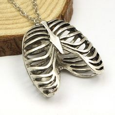 Statement Necklace Suspension Anatomy Pendants Necklace Long Necklace Collares Vintage Jewelry Colares Rib Cage Pendant Skeleton