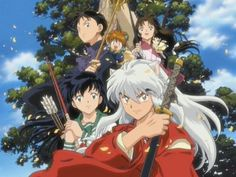 Inuyasha~ An anime in which a japanese girl fell down a well and traveled to another world.