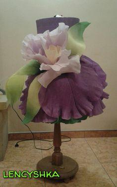 #lencyshka Crepe_paper_dress #dressflowerart