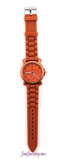 Our watches are the perfect way to add a perfect pop of color to any outfit! Orange You Cute watch, $28.