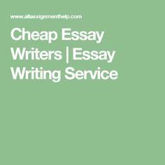 Cheap essay writters