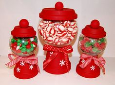 "Look what I just found...""gumball machines"" made from clay pots! Agh! Super adorable!"