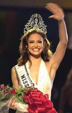 Denise Marie Quiñones August is a Puerto Rican actress and beauty pageant titleholder who was the fourth woman from her country to win the Miss Universe contest. Prior to winning the Miss Universe pageant, she represented her hometown of Lares in the Miss Puerto Rico Universe 2001 pageant.