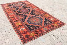 AREA OF PRODUCTION CAUCASIAN ANTIQUE SUMAK KILIM. The image colors may little differ from the actual item colors and colour may differ from screen to screen. AGE : 60-70 YEARS OLD. S u r p ri s e g i f t s a r e w a it i n g y o u. | eBay!