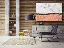 Obraz ręcznia malowany na płótnie galeryjnym PASTELOWA PUSTYNIA 70x100cm