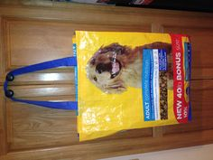 Tote bag recycled from a dog food bag!