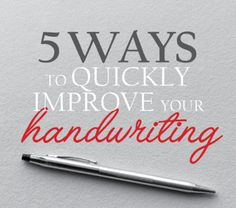 How to get better hand writing?