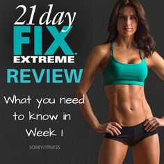Real 21 Day Fix Extreme review of week 1 including price, 21 Day Fix Extreme meal plan, workouts and videos. See if the 21 Day Fix Extreme is right for you.