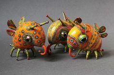 Porcelain sculptures - fantasy - Anya Stasenko - Slava Leontyev