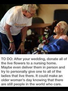 Donate wedding flowers <3
