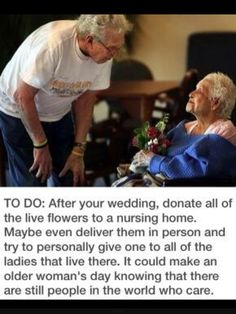 Donate wedding flowers <3