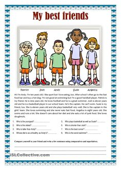 My best friends comparatives and superlatives - English ESL Worksheets for distance learning and physical classrooms English Writing Skills, Learn English Grammar, English Reading, English Lessons, English Vocabulary, Teaching English, French Lessons, Spanish Lessons, Teaching Spanish
