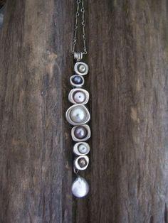 Vertebrae Pendant Earthy Modern by dnajewelrydesigns on Etsy, $96.00