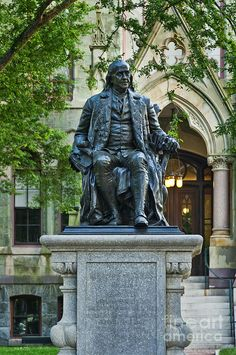 Ben Franklin At The University Of Pennsylvania Photograph