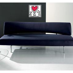 HARING - Untitled, Wedding Invitation 20x20 cm #artprints #interior #design #art #prints #Haring #ModernArt  Scopri Descrizione e Prezzo http://www.artopweb.com/EC15940