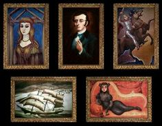 Portrait gallery in the Haunted Mansion.