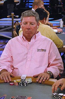 Mike Sexton at the 2006 World Series of Poker.  an American professional poker player and commentator. He is a member of the Poker Hall of Fame.