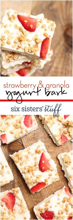 Strawberry & Granola Yogurt Bark - Six Sisters' Stuff