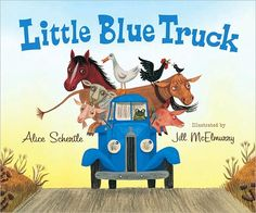 """Little Blue Truck"" I love this book for the great examples of onamonapia which make it awesome to read to little people."