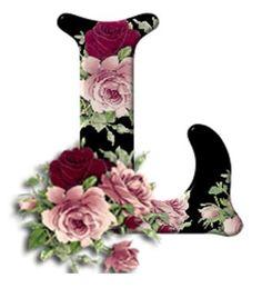 Buchstabe / Letter - L (Rosen / Roses)