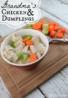A yummy chicken & dumplings recipe for a cold day #comfortfood