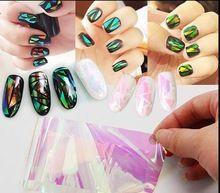 20cm explosions, Japan and Korea Symphony irregular broken glass mirror foil nail sticker nail Aurora glass paper(China (Mainland))