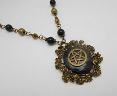 Vintage style antique bronze pentacle  necklace wiccan jewellery, pagan, Goddess, metaphysical, witchcraft jewellery,wiccan jewelry by CrysalMoonGiftss on Etsy