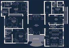 Duplex House Plans, Modern House Plans, Indian House Plans, Villa Plan, Classic House Design, Home Design Floor Plans, Cupboard Design, House Map, Family House Plans