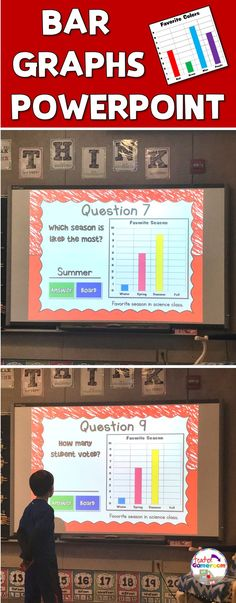 Answer questions about 3 different bar graphs. Great for centers, whole class groups, and individual practice on the ipad! Math Stations, Math Centers, Learning Stations, Second Grade Math, First Grade, Math Activities, Teacher Resources, Readers Workshop, Math Workshop