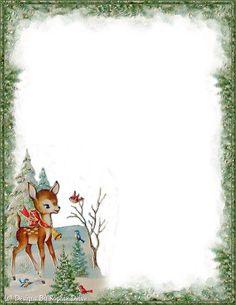 . Christmas Boarders, Christmas Frames, Prim Christmas, Christmas Animals, Christmas Background, Christmas Pictures, Vintage Christmas, Christmas Cards, Christmas Letterhead