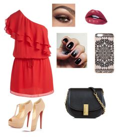 """""""Untitled #34"""" by rheana2005 on Polyvore featuring Haute Hippie, Christian Louboutin, New Look and Marc Jacobs"""