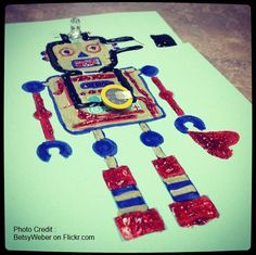 STEAM activity: Electric Paint Picture! Explore conductive Paint, Ink & MaKey-MaKey projects (via homeschooling ideas blog. Photo by betsy webber)