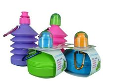 Wham Plastic Kid's Folding Bottle Running Hiking Camping Lunch (Colour May Vary)