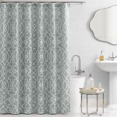 Vue Signature Iron Gates Scroll Woven Jacquard Fabric 72x72 Shower Curtain NWOT #Vue