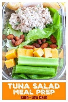 Meal prep made easy with this easy Tuna salad. Great if you are looking for low carb or keto lunch options. Meal prep made easy with this easy Tuna salad. Great if you are looking for low carb or keto lunch options. Low Carb Meal, Low Carb Lunch, Lunch Meal Prep, Healthy Meal Prep, Healthy Snacks, Healthy Eating, Keto Meal, Simple Healthy Lunch, Diabetic Snacks