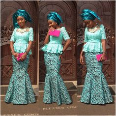 2015 Aso-Ebi Styles & Trends are going to be hot! But you don't need to worry because we will be bringing you all the latest fashion and trends…Whoop! African Dresses For Women, African Print Dresses, African Attire, African Wear, African Fashion Dresses, African Women, African Prints, African Beauty, Style Africain