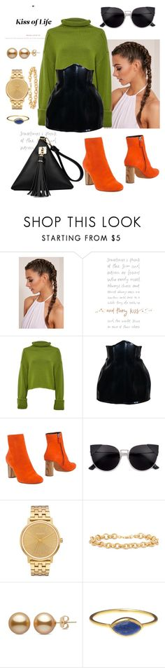 """""""Chunky knits"""" by cephora ❤ liked on Polyvore featuring Amanda Wakeley, Proenza Schouler, Nixon, Gioelli and chunkyknits"""