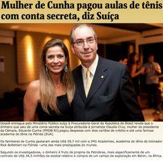 Mulher de Cunha pagou aulas de tênis com conta secreta, diz Suíça ➤ http://www1.folha.uol.com.br/poder/2015/10/1692527-propina-em-conta-de-mulher-de-cunha-pagou-gastos-com-cartoes-de-credito-e-academia-de-tenis-diz-suica.shtml ②⓪①⑤ ①⓪ ⓪⑨ #BrazilCorruption